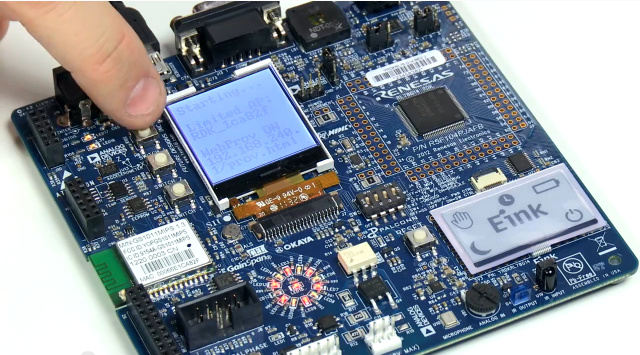 Renesas RL78/G14 Demo Kit with Oliver's Finger