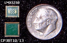 Packages Compared to U.S. dime