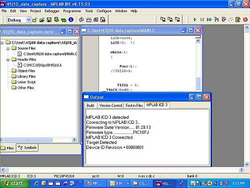 MPLAB ICD 3 Screenshot