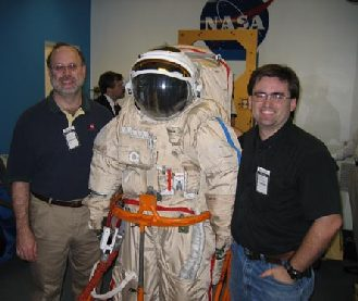 l. to r: Steve Bible, SuitSat-1, Joe Julicher